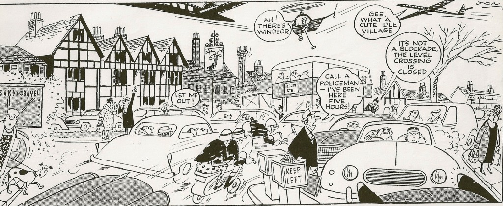 Cartoon by Jon drawn in the 1960s for Datchet