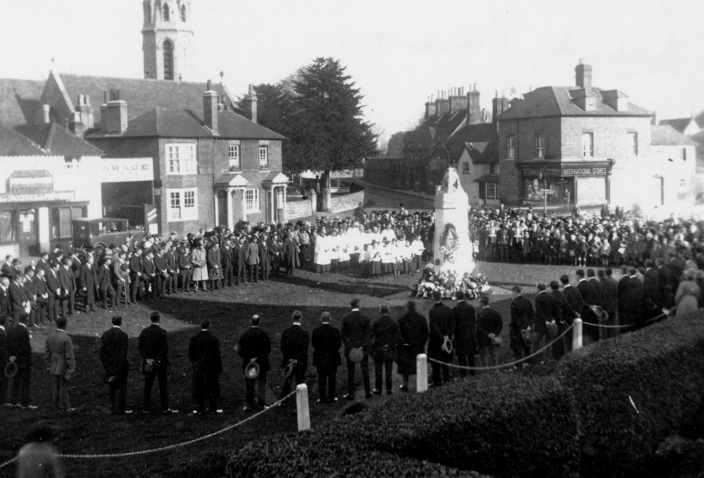 Remembrance Service at the War Memorial, 11th November 1923