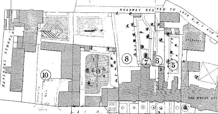 Montagu Auction Sale plan of lots, 1896; village green at foot of plan