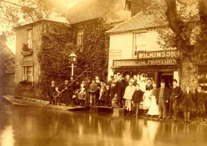 George Wilkinson's stores during the 1894 flood
