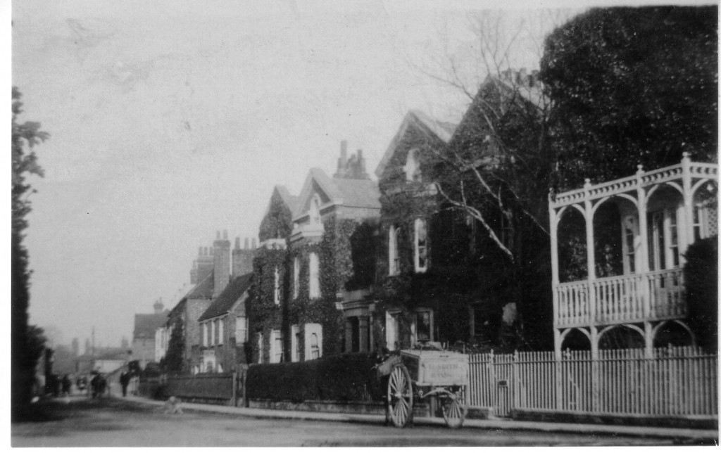 Park Villas plus Post House on right, early 20th century