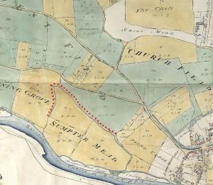 Sumptermead bank 1810 enclosure map