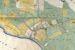 Section of the Enclosure map, Berks Record Office