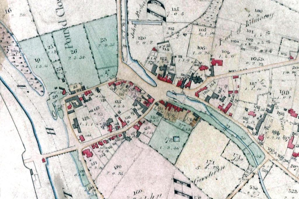 Detail from Enclosure map, surveyed about 1810